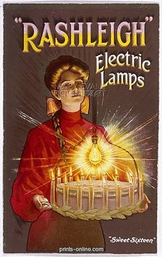 ADVERT/RASHLEIGH LAMPS from Prints-online: Beautiful posters, prints and merchandise with a historical theme., Adverts, Adverts and Posters c/o Media Storehouse: Wall Art, Prints and Photo Gifts