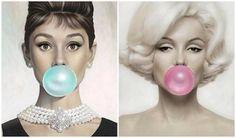 Audrey Hepburn and Marilyn Monroe