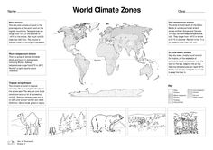 world climate zones for kids worksheets - Google Search