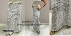 Katia Ribeiro Moda & Decoração Handmade: Saia longa em crochê com gráfico e receita