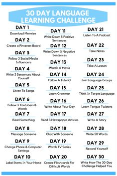 Check out this awesome 30 Day Language Learning Challenge! Each day learn new language learning tips. This is one of the most effective ways to learn a foreign language. tips 30 Day Language Learning Challenge Korean Words Learning, Japanese Language Learning, English Language Learning, Learning Spanish, Learn Italian Language, Learning Italian, German Language, Danish Language, Learn Foreign Language