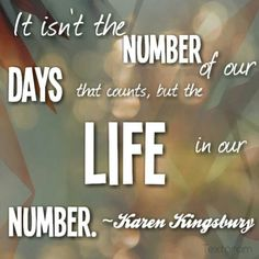 Karen Kingsbury... We need to tell people about Jesus because at the end of the day, that's all that really matters.