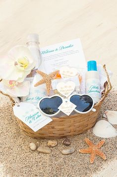 Cutest welcome gift for the destination beach wedding!