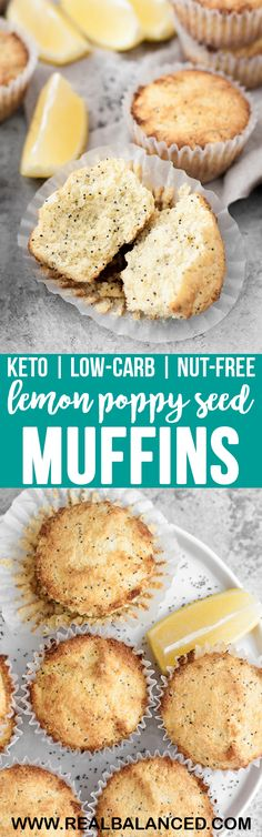These Keto Lemon Poppy Seed Muffins are a deliciously tart, low-carb dessert option that everyone will love! This recipe is keto, low-carb, nut-free, gluten-free, grain-free, vegetarian, refined-sugar-free, and contains only 1.9 grams of net carbs per serving! #lowcarb #keto #glutenfree #grainfree #nutfreeketo #vegetarian #refinedsugarfree #vegetarianketo #ketodessert #lowcarbdessert