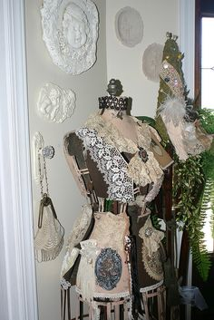 Vintage Dress Form in Foyer#Repin By:Pinterest++ for iPad#