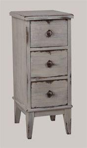 Lipasto (33x38x80 cm) on pintakäsitelty rouhean antiikkiseksi. Antiikkikäsittely on tehty JUVIssa myytävillä maitomaaleilla. juvi.fi