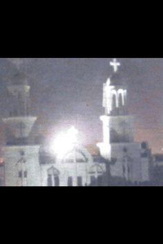 Virgin Mary appearing on Coptic Church, Zeitoun, Egypt
