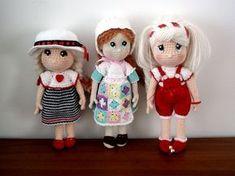 bambole schema gratis amigurumi crochet tutorial uncinetto bambini bambole giochi pupazzi natale cotone cotton lavori femminili