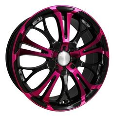 black and pink rims.   I think it would look cool with dark red metallic on my truck!