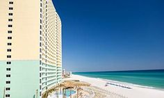 Emerald Beach Resort is a high-rise condo resort hotel in Panama City Beach. Each condo offers a gulf front balcony with magnificent views of the emerald green waters of the Gulf of Mexico. ***3 1/2 Stars