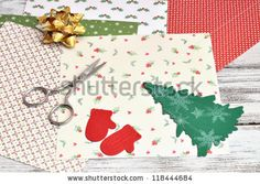 Christmas Craft Supplies Stockfotonummer: 118444684 : Shutterstock