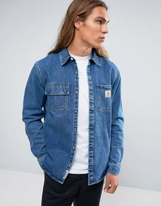 0f8ae224a1 CARHARTT WIP SALINAC DENIM SHIRT JACKET - BLUE.  carhartt  cloth   Denim  Shirt