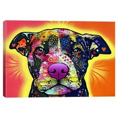 Love A Bull Canvas Print » My sister would love this!