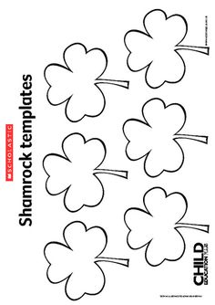 Saint Patrick's Day – Shamrock templates shamrock template March Crafts, St Patrick's Day Crafts, Daycare Crafts, Spring Crafts, Preschool Crafts, Fete Saint Patrick, Shamrock Template, St Patrick Day Activities, St Patricks Day Crafts For Kids