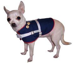 Small Dog Marine Uniform Harness - they have camo too!