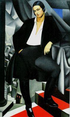 "Tamara de Lempicka Polish Art Deco Artist. ""Duchess de la Salle"" (1925)"