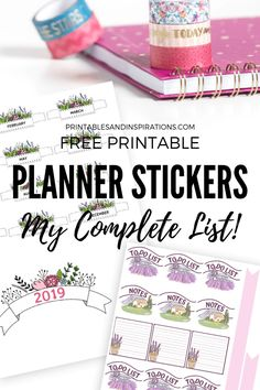 Free Planner Stickers For Your Planner Or Bullet Journal! - Printables and Inspirations Free Planner Stickers For Your Bullet Journal Free Planner Stickers, Journal Stickers, Printable Planner Stickers, Printable Calendars, Free Stickers, Bullet Journal Free Printables, Bujo, Passion Planner, Happy Planner