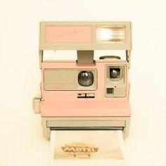 Polaroid camera photo vintage camera pastel pink by bomobob