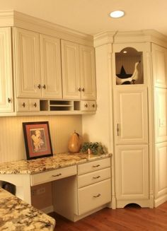 Open On End Do Not Like Faux Door Of Upper Kitchen Desks