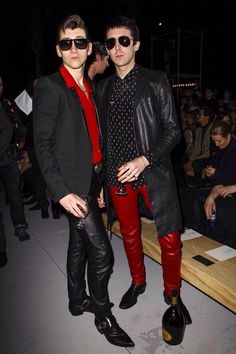Alex and Miles front row at Saint Laurent