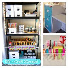 Sparkles in the Everyday!: DIY - Organised Craft Storage!
