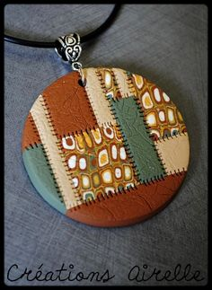 Image result for polymer clay medallion