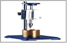Soil Cone Penetrometer: EI 50  For determining the liquid limit of soils. http://www.lab360.co.in/soil-test.htm