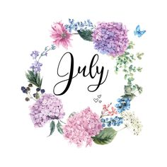 Summer Months, Months In A Year, Summer Time, Welcome May, Hello July, Progress Not Perfection, Wreath Watercolor, New Month, Getting Engaged