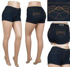 Spring Juniors Stretch Denim Jean Hot Shorts Size Slim Fit 7/8 LAST ONE #begirl #MiniShortShorts