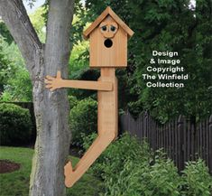 Bird House Plans 185069865925229804 - Birdhouse Wood Patterns – Tree Hugger Birdhouse Pattern Source by Wood Bird Feeder, Bird House Feeder, Squirrel Feeder, Bird Feeders, Wooden Bird Houses, Bird Houses Diy, Wooden House, Garden Projects, Wood Projects