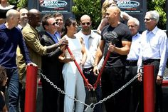 "Of course, the 'Fast & Furious' cast wasn't going to do a ""traditional"" ribbon cutting ceremony."