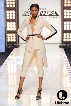 This is a POWERFUL look from the Project Runway All Stars finale!
