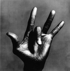 """Irving Penn: """"The Hand of Miles Davis"""" New York, 1986. <> Penn stated, """"A good photograph is one that communicates a fact, touches the heart, leaves the viewer a changed person for having seen it. It is, in a word, effective.""""  When you look at this photo you know why there was only one Irving Penn. <>"""