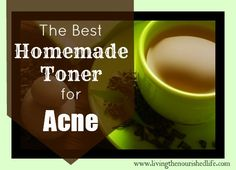 The Nourished Life: The Best Homemade Toner for Acne Prone Skin    3/4 cup strong green tea   1/4 cup raw apple cider vinegar     That's it! Simply pour the green tea and apple cider vinegar into a glass bottle or jar with a lid. Use a cotton ball to apply toner after cleansing or as often as desired. Store this toner in the refrigerator--it should keep for a week or two this way.