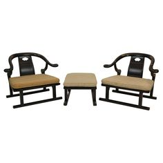 1stdibs   Michael Taylor designed Asian Ming Lounge Chairs by Baker