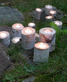 Birch Tree Candle Holders...so cute.