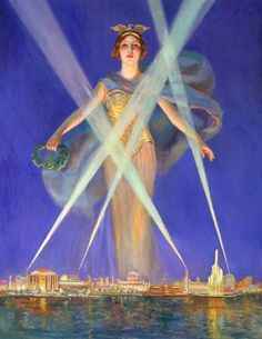 Century of Progress: 1933 Worlds Fair : Frank Robert Harper: Art Print #VintageCommercialArt