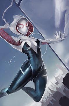 #Spider #Gwen #Fan #Art. (Spider-Gwen) By: NocturnalBrush. ÅWESOMENESS!!!™