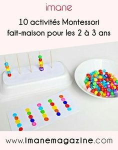 10 activities Montessori home-made years – Imane Magazine Montessori Activities, Motor Activities, Infant Activities, Preschool Activities, Cars Preschool, Montessori Materials, Montessori Practical Life, Kids Education, Fine Motor