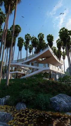 Architecture Building Design, Futuristic Architecture, House Architecture, Residential Architecture, Amazing Architecture, Architecture Details, Unique Buildings, Amazing Buildings, Best Modern House Design