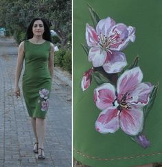 View details for the project Hand-painted dress on BurdaStyle.