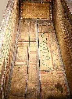 The Coffin Texts are a collection of ancient Egyptian funerary spells written on coffins beginning in the First Intermediate Period. The texts are derived in part from the earlier pyramid texts, reserved for royal use only, but they contain substantial new material related to everyday desires that reflects the fact that the texts were now used by the common people.