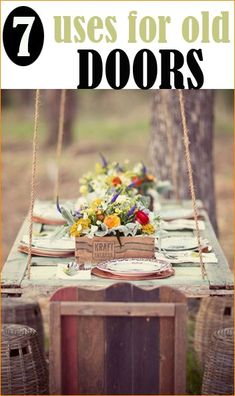 Uses for Old Doors.  Great DIY projects showcasing vintage doors.