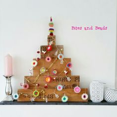 Handmade Christmas Tree, Topper and Baubles! Bites and Beads