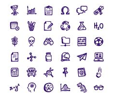 36 Brainy Hand Drawn Education Icons Set - http://www.dawnbrushes.com/36-brainy-hand-drawn-education-icons-set-2/