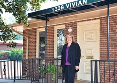 Welcome party at Body and Face Aesthetics - Lori out in front of her new offices.