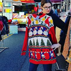 Ugly sweater party tonight? @gogosretreadthreads has you covered! #FSMerryMarket #regram #ShopSilverSpring