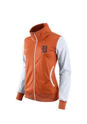 Nike Detroit Tigers Womens Classic Track Orange Track Jacket