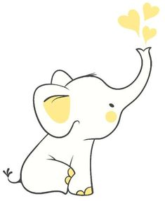 To do ! Elephant Doodle, Baby Elephant Drawing, Elephant Art, Elephant Drawings, Baby Elephant Images, Cute Elephant Cartoon, Elephant Template, Elephant Outline, Elephant Applique