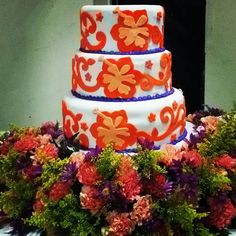 Inspiración: las molas Panama Wedding Cake Decorations, Wedding Cakes, Cake Board, My Heritage, Let Them Eat Cake, Birthday Cards, Cake Decorating, Beautiful Pictures, Culture
